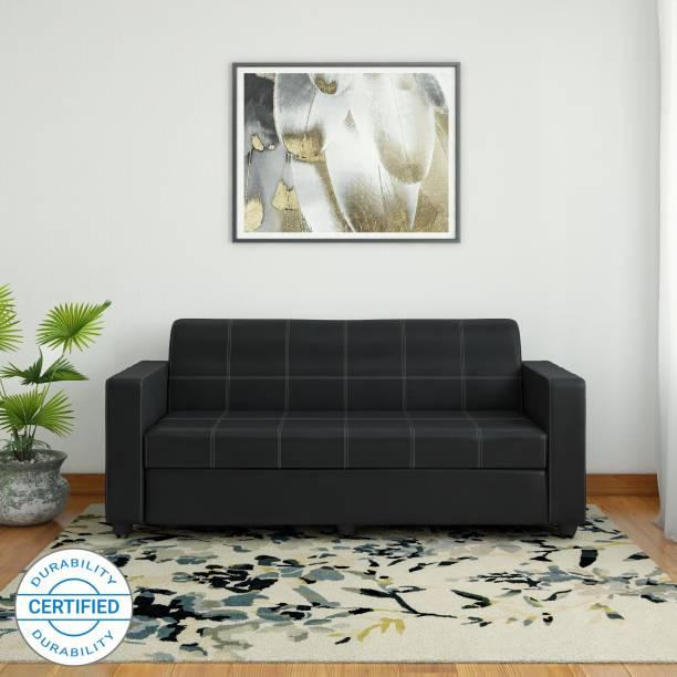 Bharat Lifestyle Cosmo Leatherette 3 Seater  Sofa