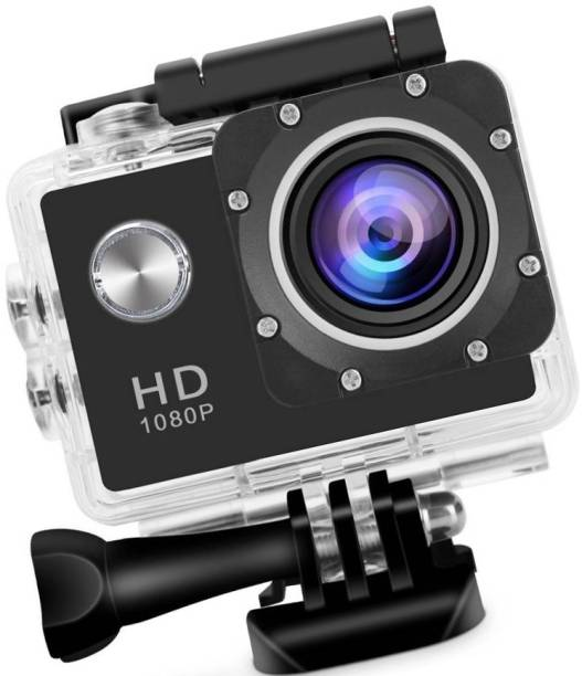 ALONZO 1080P Action Camera 2-inch LCD 170 Degree Wide Angle Lens Waterproof Diving (Upto 30m) Sports and Action Camera