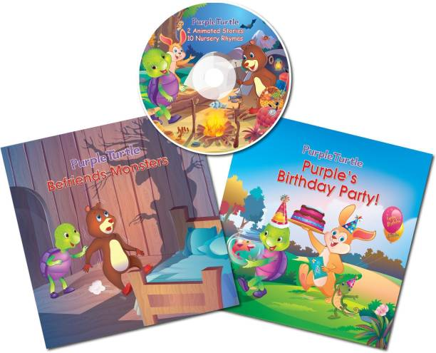Purple Turtle Story Books With Cd For Childrens Combo Pack (Book With Cd Free) 1