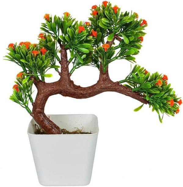 Reiki Crystal Products Orange Flower Bonsai Tree Artificial Plant