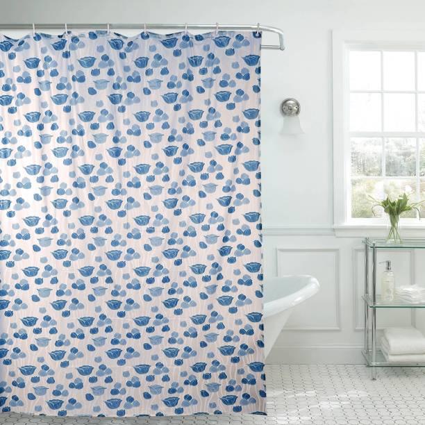 Aradent 213 Cm 7 Ft PVC Shower Curtain Single