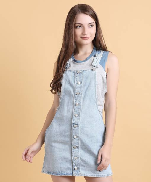 cef7d2a2eb96 Forever 21 Dungarees - Buy Forever 21 Dungarees Online at Best ...