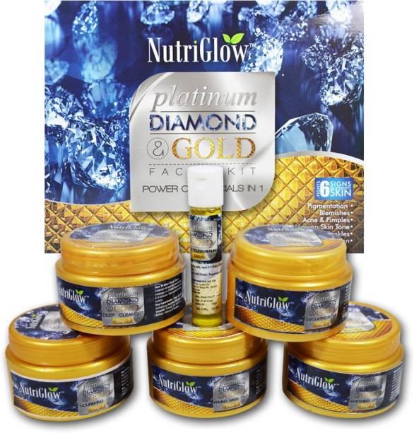 NutriGlow Platinum, Diamond & Gold Facial Kit Power of 3