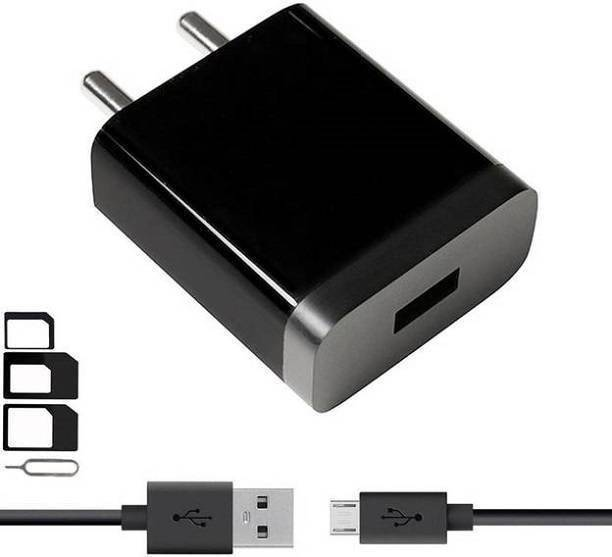 A2Z shop Wall Charger Accessory Combo for Vivo V3, Sony Xperia XA Ultra Dual, Samsung Galaxy S7 Edge, Lenovo Vibe K5, Moto E3 Power, Panasonic P75, Samsung Galaxy J5 Prime, Moto G4 Plus, Oppo F1, Samsung Galaxy J5 2016, Samsung Galaxy On5 Pro, Oppo Neo 7, Vivo Y21, Xiaomi Mi Max Prime, HTC Desire 10 Pro, Samsung Galaxy J2 (2015), Vivo Y55S, Oppo Neo 5 Dual, Vivo Y21L, Samsung Galaxy A8 Original like Mobile Charger With 1 Meter Micro USB Charging Data Cable And SIM Adapter