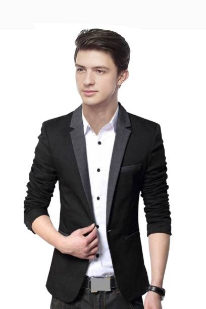 074fa4e440 Personality plus Solid Single Breasted Wedding, Party, Casual Men's Blazer