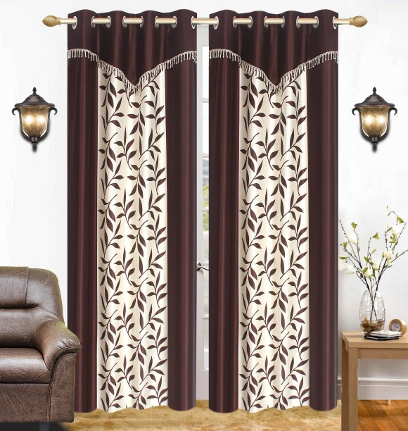 Ville Style 275 Cm (9 Ft) Polyester Long Door Curtain (Pack Of 2