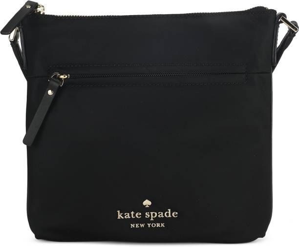 Kate Spade Women Casual Black Genuine Leather Sling Bag