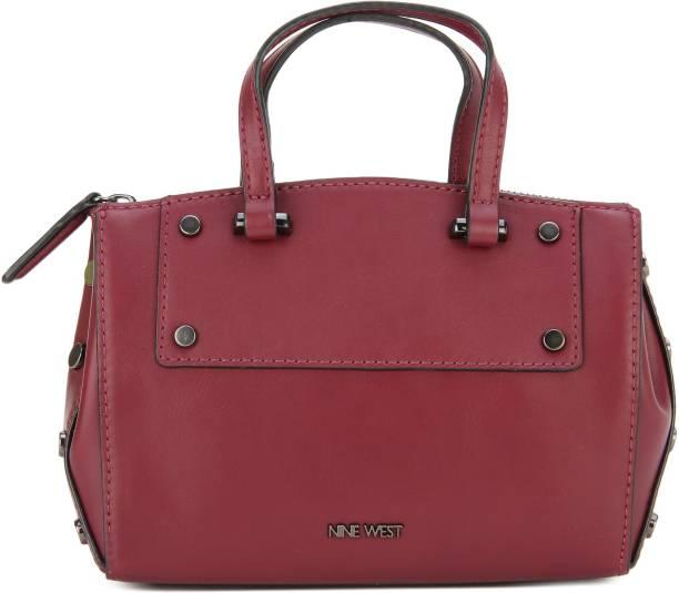 Nine West Women Casual Maroon Leatherette Sling Bag
