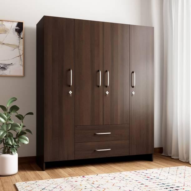 Crystal Furnitech Aspire Engineered Wood 4 Door Wardrobe