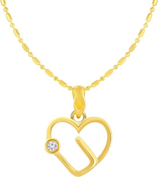 1bd4da26cba7 Sukai Jewels Single Solitaire Heart Gold-plated Cubic Zirconia Alloy
