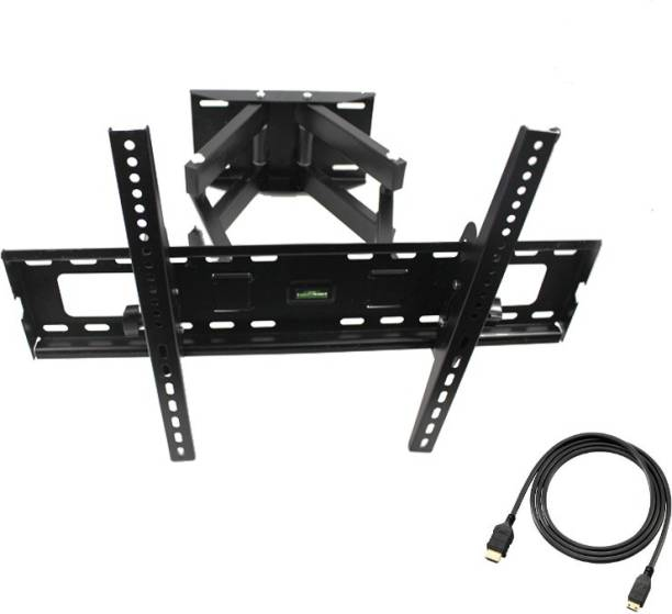 DazzelOn TV Wall Mount Bracket for Most 26-55 Inch LED, LCD, OLED and Plasma Flat Screen TV, with Full Motion Swivel Articulating Dual Arms, up to VESA 400x400mm with Tilting for Monitor Free 3 Meter HDMI Cable Full Motion TV Mount