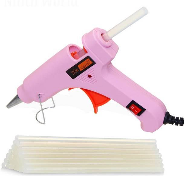 FADMAN PINK MINI 20 WATT HOT MELT GLUE GUN AND ON OFF SWITCH AND INDICATOR WITH ONLY 10 STICKS Standard Temperature Corded Glue Gun