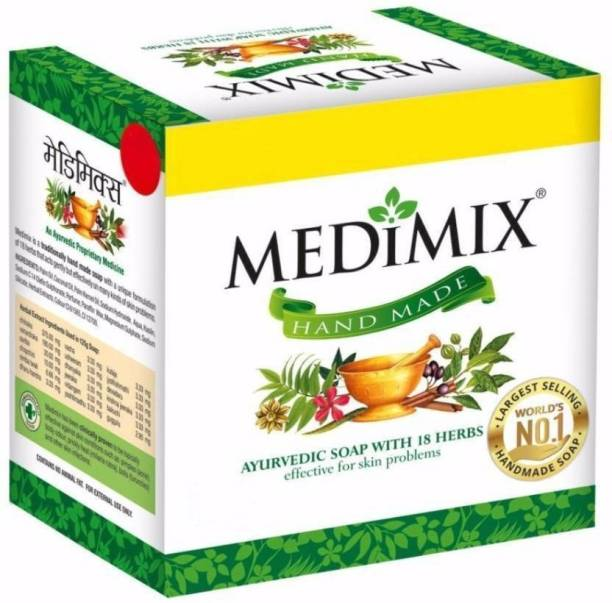 75 G Pack Of 6 Discreet Medimix Ayurvedic Soap With 18 Herbs