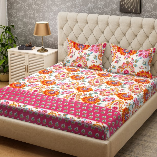 Superb Bombay Dyeing 160 TC Polycotton Double Paisley Bedsheet