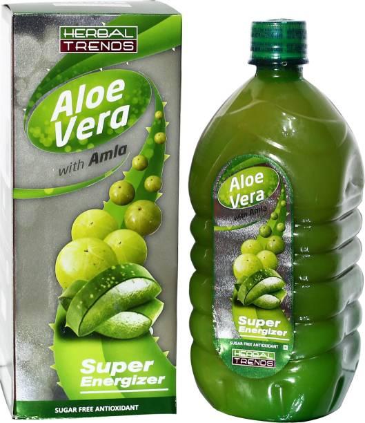 Herbal Trends Aloe Vera with Amla- Super Energizer - Pure - Both Herbs from Himachal Pradesh