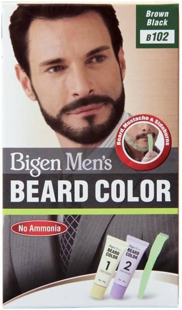 Bigen Men's Beard Color B102 Brown Black , Brown black
