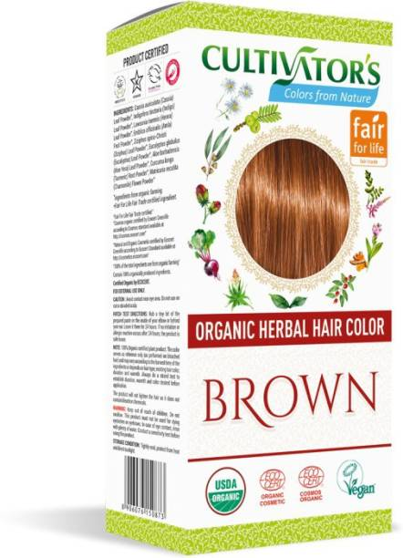 Cultivator's Organic Herbal Hair Color , Brown