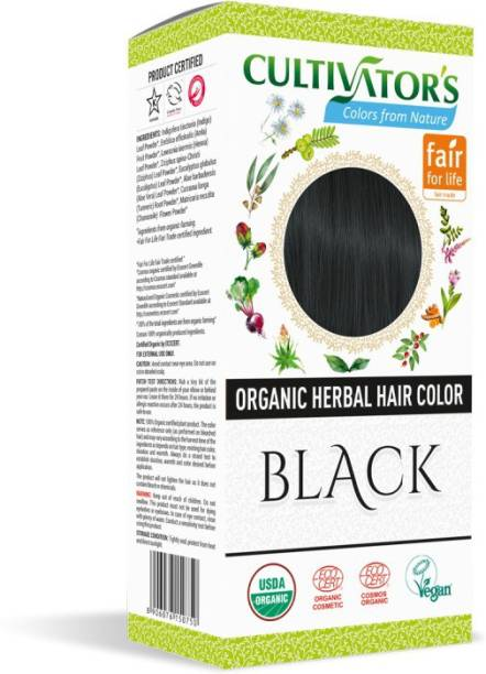 Cultivator's Organic Herbal Hair Color , Black