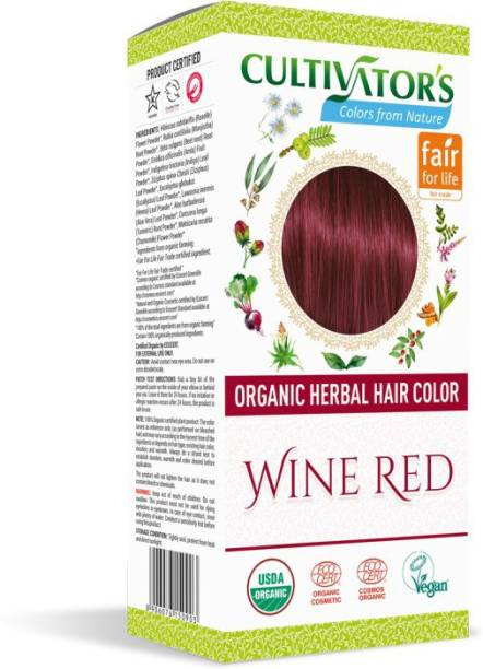 Cultivator's Organic Herbal Hair Color , Wine Red