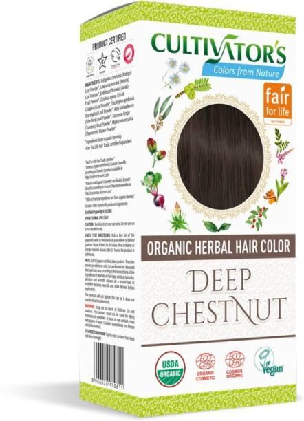 Cultivator's Organic Herbal Hair Color , Deep Chestnut