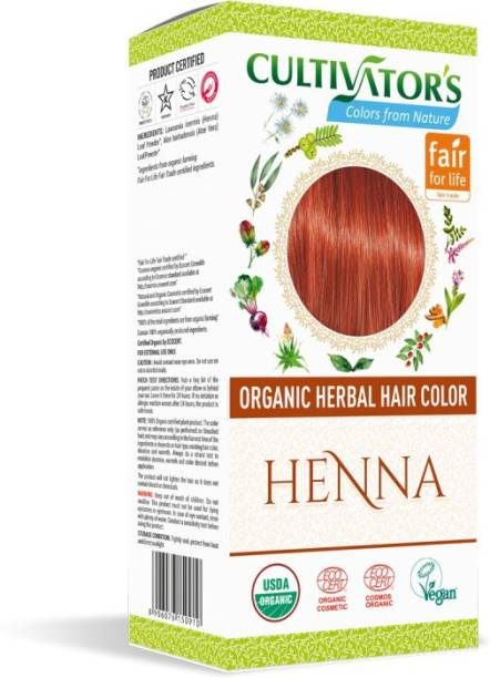 Cultivator's Organic Herbal Hair Color , Henna