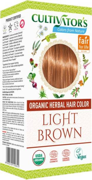 Cultivator's Organic Herbal Hair Color , Light Brown