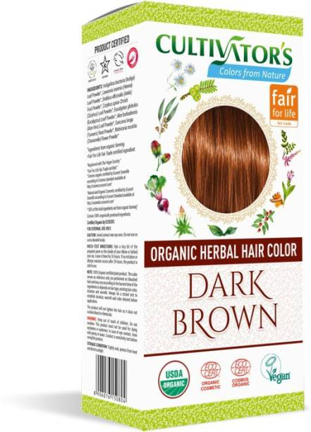 Cultivator's Organic Herbal Hair Color , Dark Brown