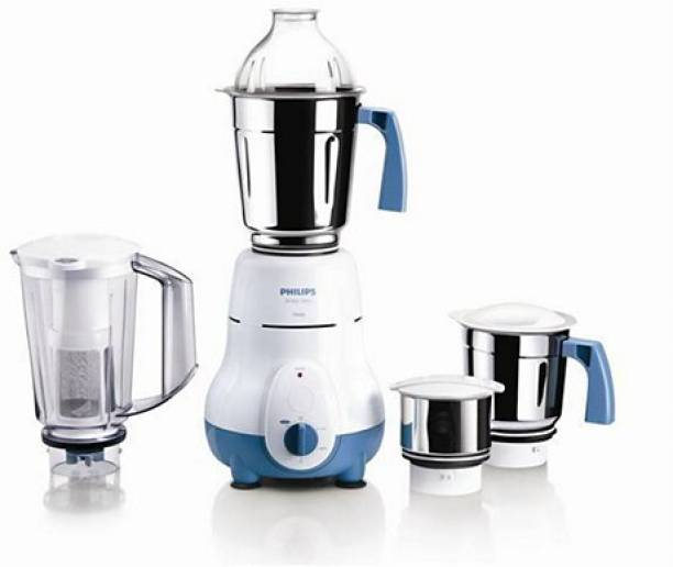 PHILIPS HL1645/00 750 W Mixer Grinder (4 Jars, White, Blue)