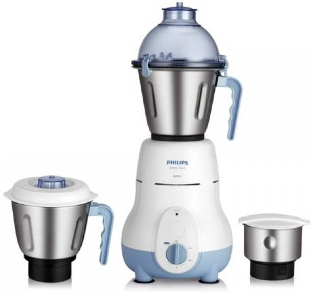 PHILIPS HL1643/04 600 W Mixer Grinder (3 Jars, Blue)