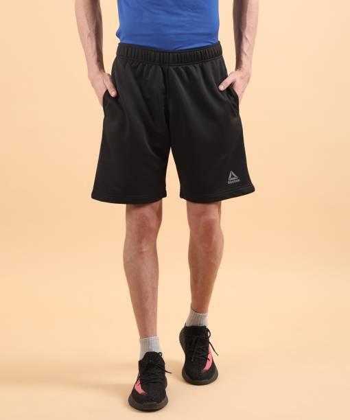 REEBOK Solid Men Black Sports Shorts 8f55cafbd