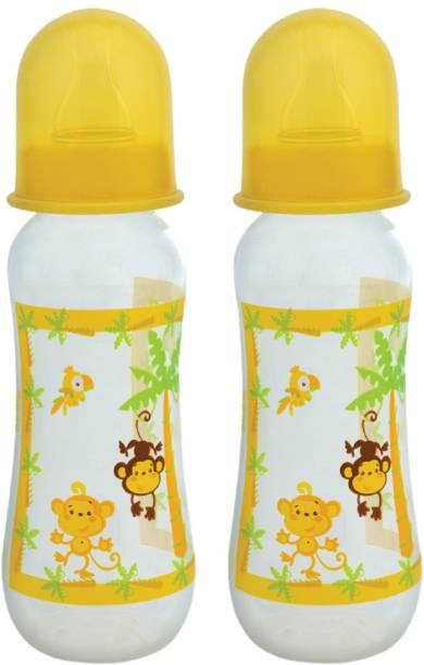 MeeMee Premium Baby Feeding Bottle (Pack of 2 - 250 ml, Yellow) - 250 ml
