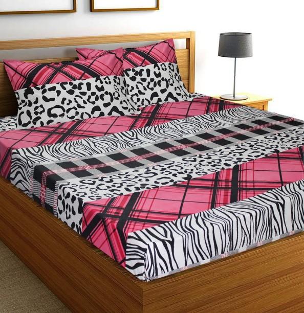 Flipkart SmartBuy 104 TC Microfiber Double Animal Bedsheet