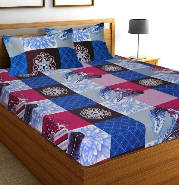 Flipkart SmartBuy 104 TC Microfiber Double Abstract Bedsheet