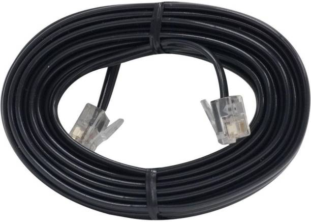 Kebilshop Telephone Line Cord Cable,modem Cable , RJ11 Plug to Plug 10 Meter 10 m Patch Cable