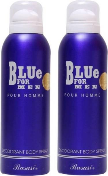 Rasasi BLUE FOR MEN PACK OF 2 Body Spray - For Men