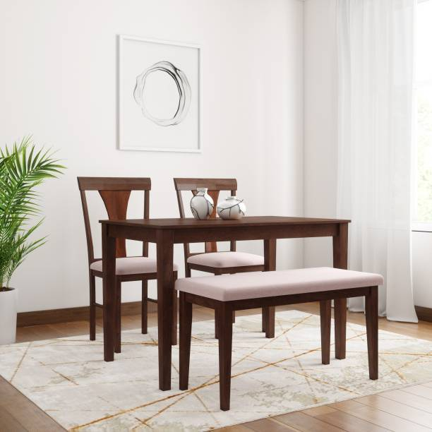 Flipkart Perfect Homes Fraser Solid Wood 4 Seater Dining Set