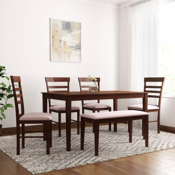 c48e444d825 Flipkart Perfect Homes Hayman Solid Wood 6 Seater Dining Set