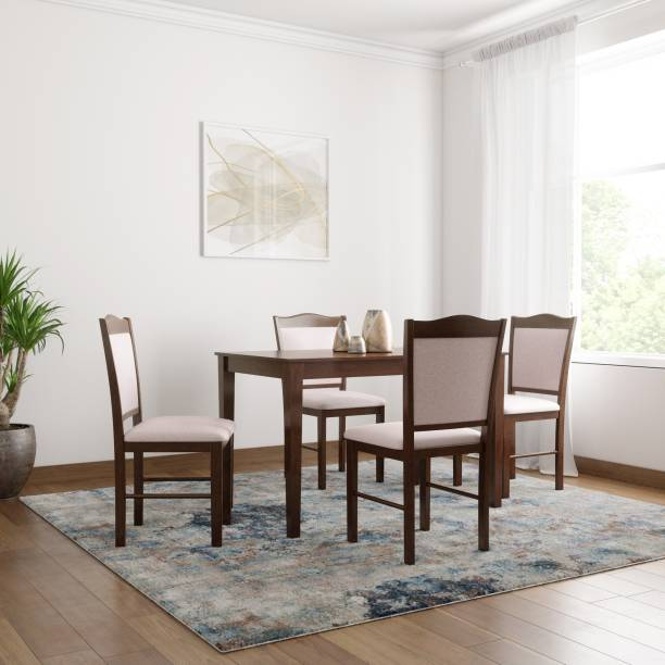 Flipkart Perfect Homes Cocos Solid Wood 4 Seater Dining Set