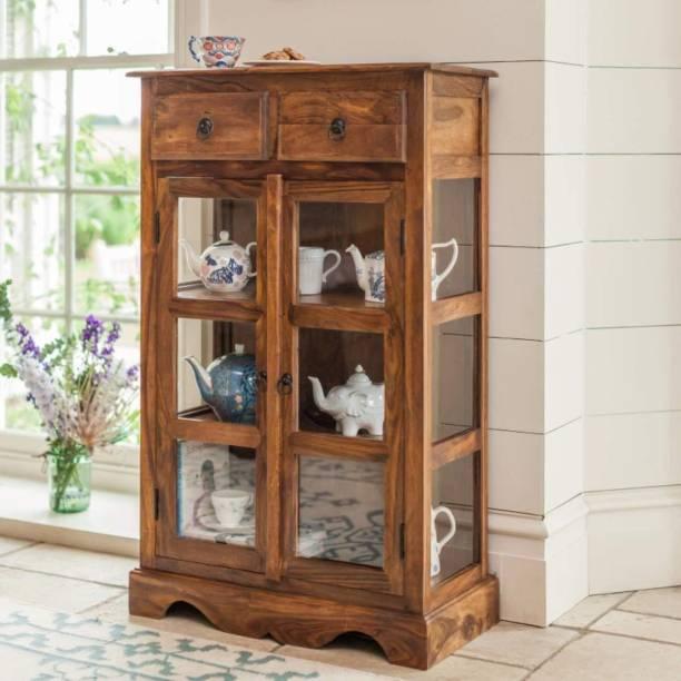 Angel Furniture Sheesham Wood Solid Wood Crockery Cabinet