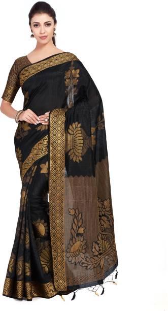 6b7f579f3f Black Silk Sarees - Buy Black Silk Sarees online at Best Prices in ...