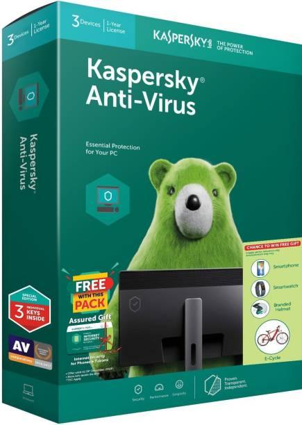Kaspersky Anti-virus 3 User 1 Year