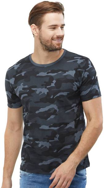 926f9b74919e Wear Your Opinion Military Camouflage Men's Round Neck Multicolor T-Shirt