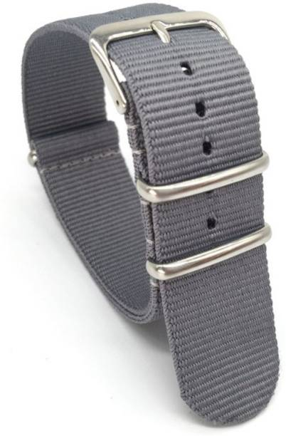 9cd19dcc26f6 Rough Nature Army Grade 22 mm Watchbands Men Women Grey Army Military Nato  Fiber Woven Nylon