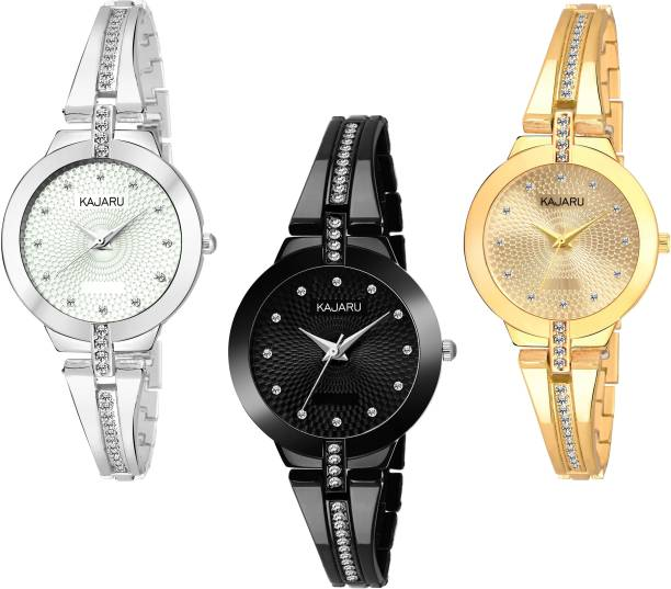 f47a40fc56 KAJARU BANGLE_1129 NEW ARRIVAL PACK OF 3 WATCH FOR GIRLS Watch - For Women