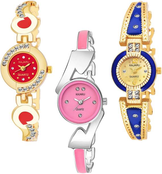 6ab74399b3 KAJARU BANGLE_1136 NEW ARRIVAL PACK OF 3 WATCH FOR GIRLS Watch - For Women