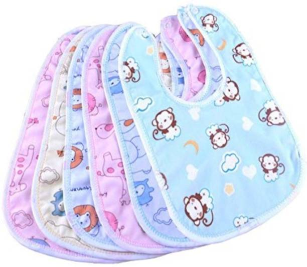 BRANDONN Baby Double Layered Waterproof Bibs Pack Of 6