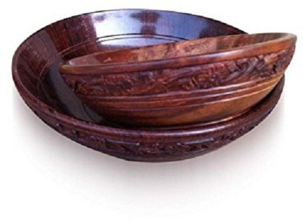 Wood Bowl Wooden bowl Set of 3 Serving Bowl Soup Bowl