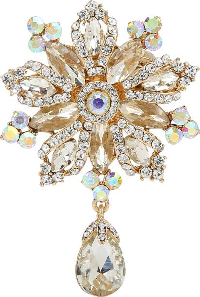 5212f4484 Mansiyaorange Traditional Indo western Designer Fancy Wedding Brooch For  Women Brooch