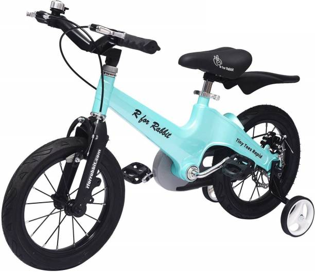 R for Rabbit Tiny Toes Rapid - The Smart Plug and Play Bicycle/Cycle for Kids (Lake Blue) 14 T Road Cycle