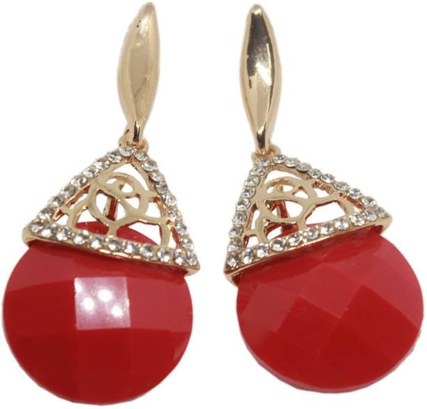 55a140ebe Thanksouma Fashionable Dangle Drop Stone Earring With Unique Shape  Chalcedony Brass, Stone Drop Earring,